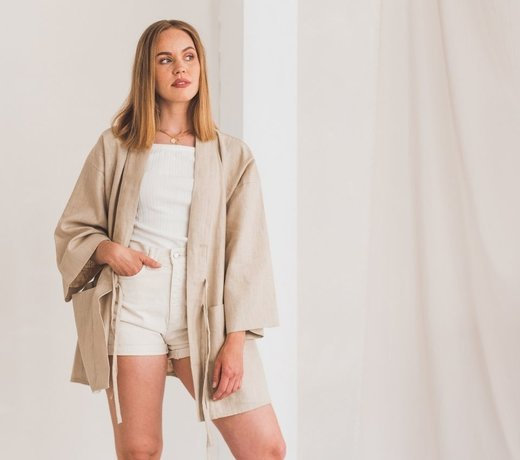 Sustainable fashion in neutral colors