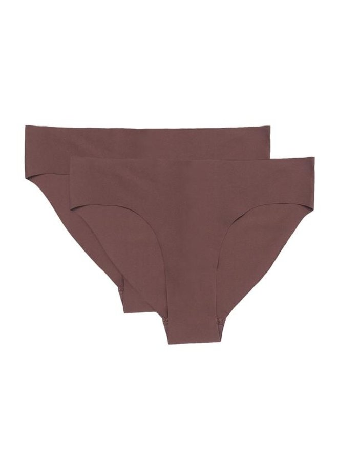 Invisible Cheeky Brief 2-pack Walnut