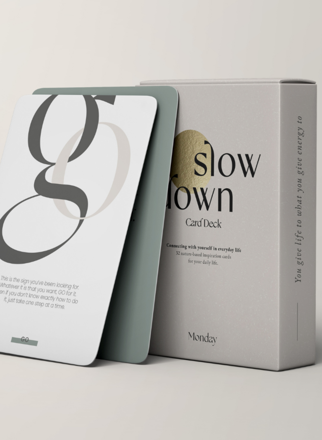 MONDAY | Slow Down CardDeck