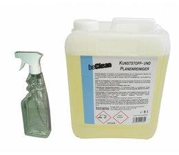 beClean Kunststoff & Planenreiniger 5 Liter mit Sprühflasche