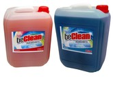 beClean Red orange 10 Liter - Blue sea 10 Liter