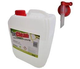 beClean Zitronensäure 50% flüssig 5kg mit Ablasshahn