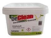beClean Zitronensäure, Granulat, 2,5kg-Eimer