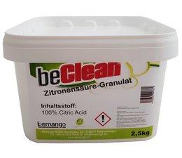 beClean Zitronensäure, Granulat 2,5kg-Eimer