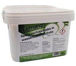 beClean Spülmaschinentabs ca. 150 Stück in wasserlöslicher Folie  im Eimer
