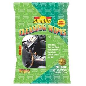 Simoniz Cleaning Wipes (24 per doos, 20 per verpakking hersluitbaar)