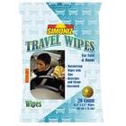 Simoniz Travel Wipes (24 per doos, 20 per verpakking hersluitbaar)