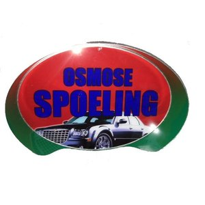 """Oval Sign: """"Osmose Spoeling"""""""