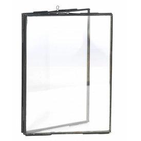 Madam Stoltz fotolijst dubbel glas zwart large