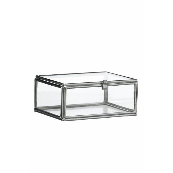 Madam Stoltz glazen boxje small zilver