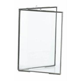 Madam Stoltz fotolijst dubbel glas zilver medium