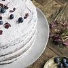 cake plate rustic