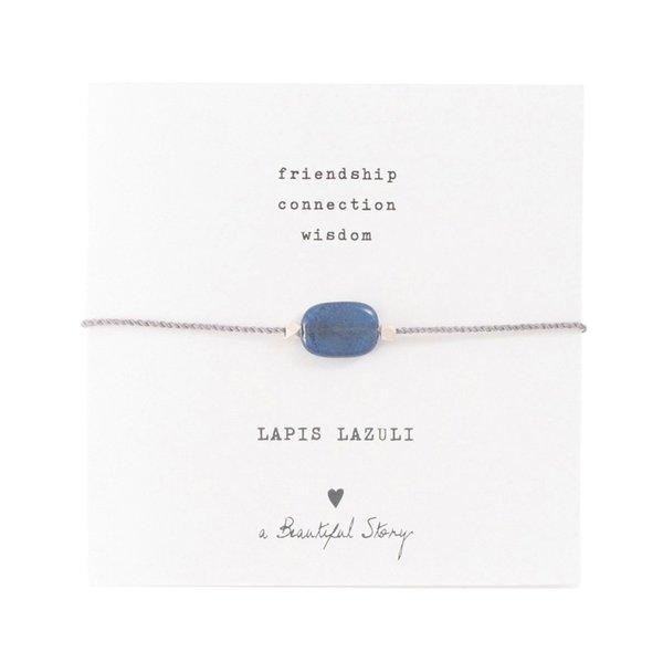 A Beautiful Story edelsteenkaart Lapis Lazulli zilver