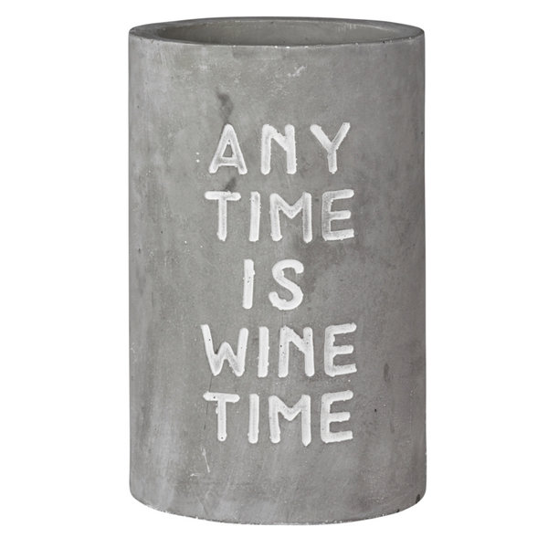 Räder wijnkoeler beton met tekst