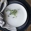 bord, Pion, grijs wit, 21,5 cm