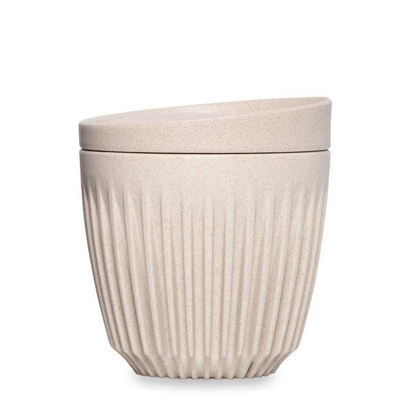 Huskee cup koffiebeker met deksel  - naturel