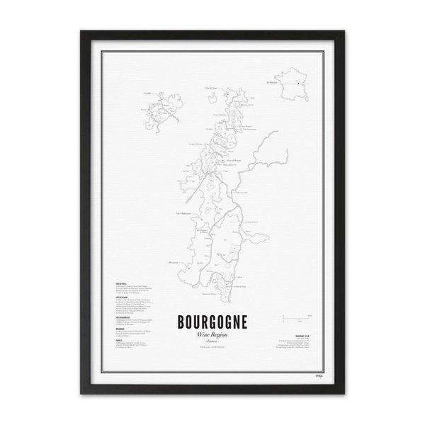 Wijck poster wijn collectie - Bourgondië
