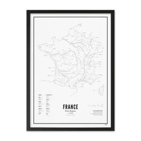 Wijck poster wijn collectie - Frankrijk