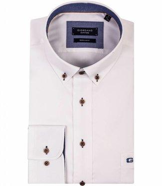 Giordano Regular Fit Giordano Regular Fit overhemd wit structuur 827010-10