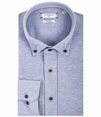 Giordano Blue lichtblauw overhemd jersey knitted