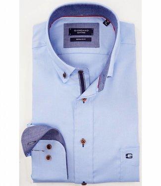 Giordano Regular Fit lichtblauw overhemd oxford