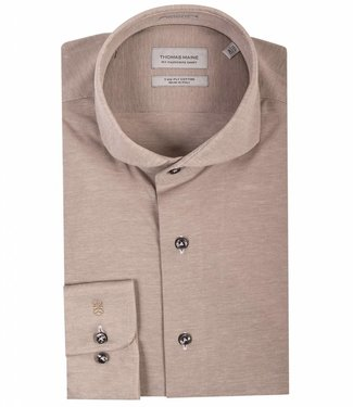 Thomas Maine tailored fit overhemd jersey beige