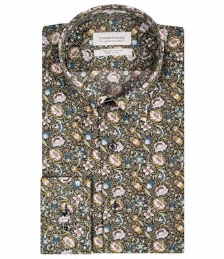 Thomas Maine tailored fit overhemd gekleurde bloemen