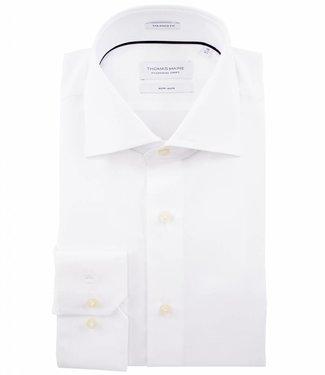 Thomas Maine strijkvrij overhemd wit mouwlengte 7