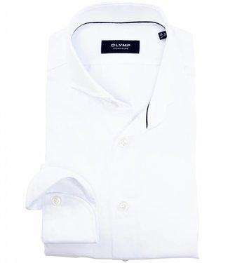 Olymp signature strijkvrij overhemd Sano Satin wit