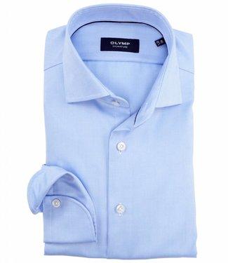 Olymp tailored fit overhemd lichtblauw visgraat strijkvrij