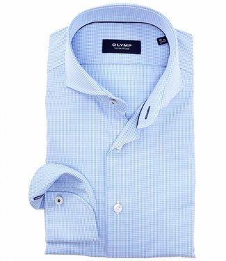 Olymp tailored fit strijkvrij overhemd lichtblauw premium