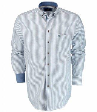 Giordano Regular Fit overhemd blauw wit streep