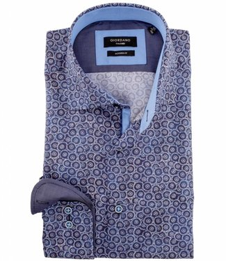 Giordano Tailored blue special print