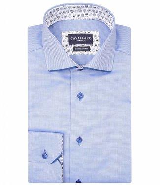 Cavallaro Piero Blue kobalt overhemd