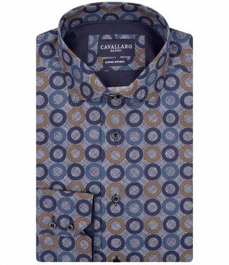 Cavallaro Renzo blauw overhemd