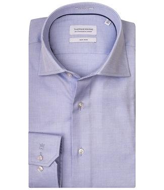 Thomas Maine strijkvrij overhemd lichtblauw mouwlengte 7