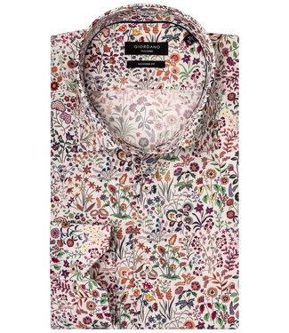 Giordano Tailored Modern Fit overhemd tutti colori bloemen en planten liberty print