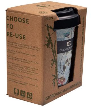 Giordano Tailored Bamboo mok lichtblauwblauw tutti colori bloemenprint