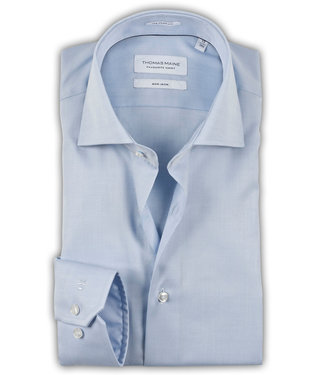 Thomas Maine strijkvrij overhemd blauw mouwlengte 5
