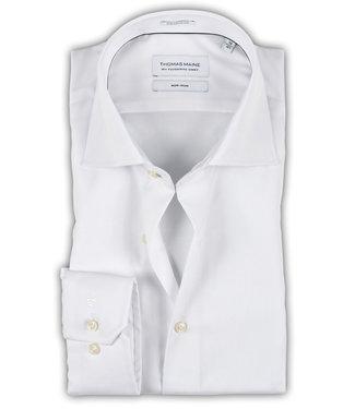 Thomas Maine strijkvrij overhemd wit mouwlengte 5
