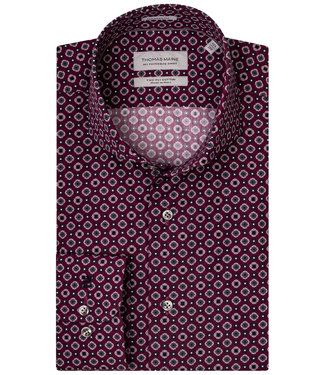 Thomas Maine cyclaam roze-grijs-wit print