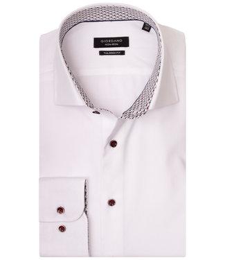 Giordano Tailored wit met bruine knopen