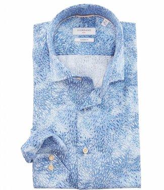 Giordano Blue special white overhemd print