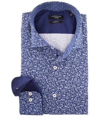 Giordano Tailored paisley bloemenprint blauw