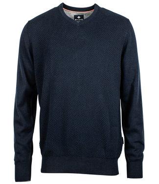 Baileys donkerblauw katoenen v-hals heren trui