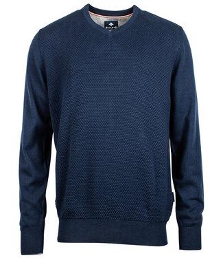 Baileys jeans blauw katoenen v-hals heren trui