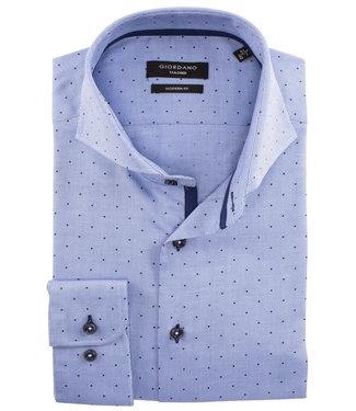 Giordano Tailored blauw met donkerblauwe print 1knoops cut away
