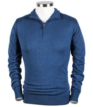 Baileys heren zipper trui met ritsje kobaltblauw
