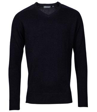 Baileys donkerblauw v-hals heren trui