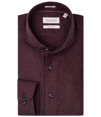 Thomas Maine bordeaux rood cashmere blend flanel